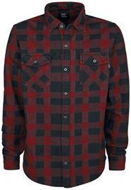 Vintage Industries - Globe Heavyweight Shirt - Flanellipaita - Miehet - Punainen musta