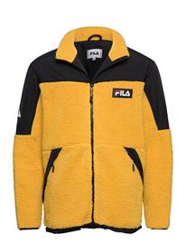 FILA Men Manolo Sherpa Fleece Jacket Svetari Collegepaita Keltainen FILA NUGGET GOLD-BLACK