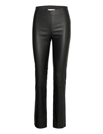 ODD MOLLY Victoria Leather Pants Leather Leggings/Housut Musta ODD MOLLY ALMOST BLACK