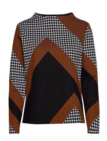 Gerry Weber T-Shirt Long-Sleeve Neulepaita Musta Gerry Weber BLACK/ CREAM/ HAZELNUT