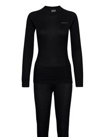 Craft Core Dry Baselayer Set W Base Layer Sets Musta Craft BLACK