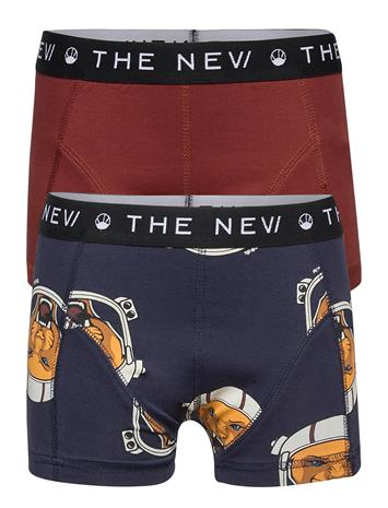 The New The New Boxers Space Tiger 2-Pack Alushousut Sininen The New FIRED BRICK