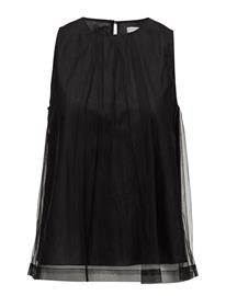 Cathrine Hammel Classic Tulle Top Hihaton Pusero Paita Musta Cathrine Hammel BLACK, Naisten paidat, puserot, topit, neuleet ja jakut