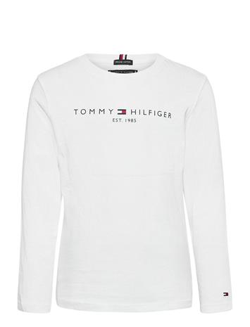 Tommy Hilfiger Essential Tee L/S T-shirts Long-sleeved T-shirts Valkoinen Tommy Hilfiger WHITE, Lastenvaatteet