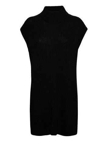 b.young Byvanilia Poncho - Knitwear Vests-indoor Musta B.young BLACK, Naisten paidat, puserot, topit, neuleet ja jakut