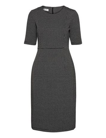 Gerry Weber Dress Woven Fabric Polvipituinen Mekko Musta Gerry Weber BLACK/ECRU/WHITE FIGURED