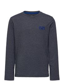 Jack & Jones Jjadam Tee Ls Crew Neck Jr T-shirts Long-sleeved T-shirts Sininen Jack & J S NAVY BLAZER, Lastenvaatteet