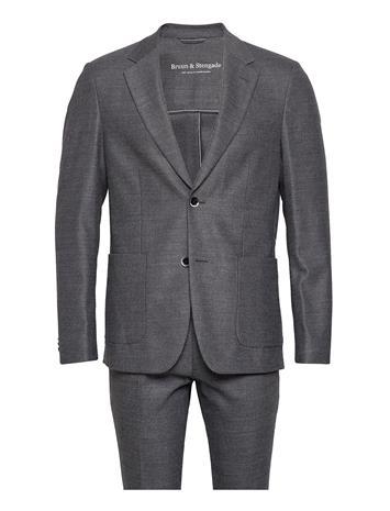 Bruun & Stengade Castello, Suit Set Puku Harmaa Bruun & Stengade DARK GREY