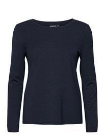ICHI Ihrebel Ls T-shirts & Tops Long-sleeved Sininen ICHI TOTAL ECLIPSE, Naisten paidat, puserot, topit, neuleet ja jakut