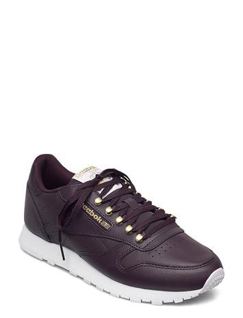 Reebok Classics Cl Lthr Matalavartiset Sneakerit Tennarit Punainen Reebok Classics MIDSHA/MAGOLD/WHITE, Naisten kengät