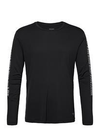 Björn Borg Ls Perf Tee M Night Night T-shirts Long-sleeved Musta Björn Borg BLACK BEAUTY, Miesten paidat, puserot ja neuleet
