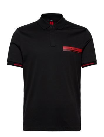 BOSS Phillipson 75_ps Polos Short-sleeved Musta BOSS BLACK, Miesten paidat, puserot ja neuleet