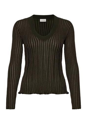 By Malene Birger Bhesa T-shirts & Tops Long-sleeved Musta By Malene Birger HUNT, Naisten paidat, puserot, topit, neuleet ja jakut