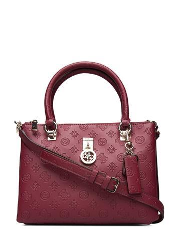 GUESS Ninnette Status Satchel Bags Top Handle Bags Punainen GUESS MERLOT
