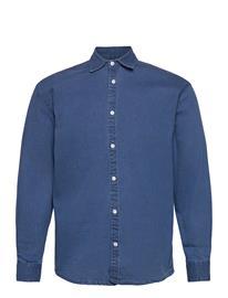 Denim project Lenny Denim Shirt L/S Paita Rento Casual Sininen Denim Project LIGHT BLUE, Miesten paidat, puserot ja neuleet