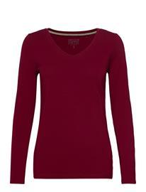 Esprit Casual T-Shirts T-shirts & Tops Long-sleeved Punainen Esprit Casual BORDEAUX RED 4, Naisten paidat, puserot, topit, neuleet ja jakut