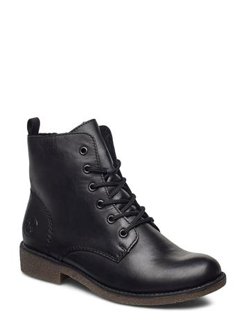 Rieker 76742-00 Shoes Boots Ankle Boots Ankle Boot - Flat Musta Rieker BLACK, Naisten kengät