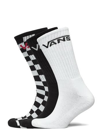 VANS Classic Crew Underwear Socks Regular Socks Musta VANS BLACK/CHECKERBOARD