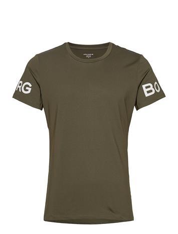 Björn Borg Tee Borg Borg T-shirts Short-sleeved Vihreä Björn Borg ROSIN, Miesten paidat, puserot ja neuleet