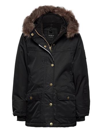 name it Nkfsnow10 Jacket 3fo Parka Takki Musta Name It BLACK, Lastenvaatteet