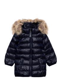 GANT D1. Gant Faux Fur Puffer Jacket Toppatakki Sininen GANT EVENING BLUE, Lastenvaatteet