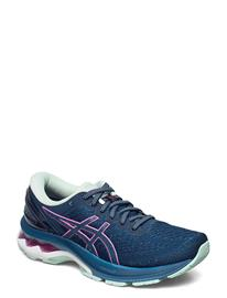 Asics Gel-Kayano 27 Shoes Sport Shoes Running Shoes Sininen Asics MAKO BLUE/HOT PINK