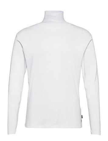 Jack & Jones Jprblaray Tee Ls Roll Neck T-shirts Long-sleeved Valkoinen Jack & J S WHITE