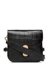 Coccinelle Zaniah Croco Maxi Bags Small Shoulder Bags - Crossbody Bags Musta Coccinelle NOIR