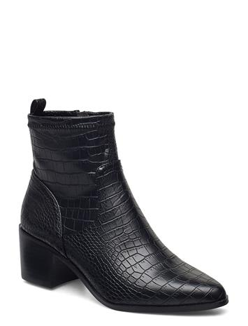 Bianco Biaabbie Boot Shoes Boots Ankle Boots Ankle Boot - Heel Musta Bianco BLACK 9