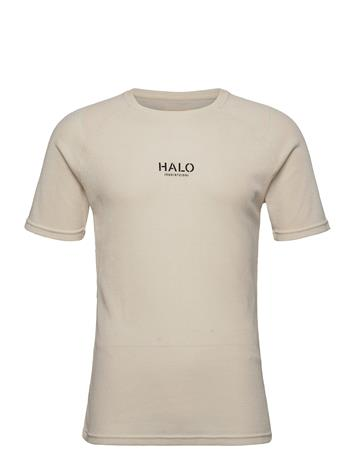 HALO Halo Waffle Tee T-shirts Short-sleeved Beige HALO BONE WHITE