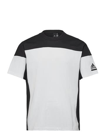 adidas Performance Zne Tee T-shirts Short-sleeved Valkoinen Adidas Performance WHITE/BLACK