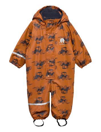 CeLaVi Rainwear Suit -Aop, W. Fleece Outerwear Rainwear Sets & Coveralls Oranssi CeLaVi PUMPKIN SPICE