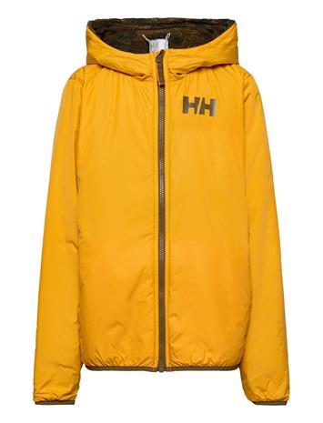 Helly Hansen Jr Champ Reverisble Jacket Outerwear Fleece Outerwear Fleece Jackets Keltainen Helly Hansen GOLDEN GLOW