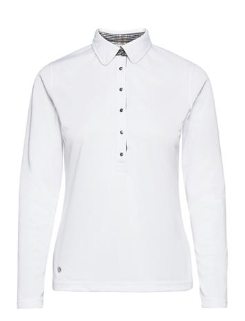 Daily Sports Luna Ls Polo Shirt T-shirts & Tops Polos Valkoinen Daily Sports WHITE