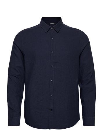 J. Lindeberg Light Flannel Slim Shirt Paita Rento Casual Sininen J. Lindeberg JL NAVY