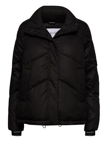 Calvin Klein Ls Monogram Jacket Vuorillinen Takki Topattu Takki Musta Calvin Klein MONOGRAM / BLACK