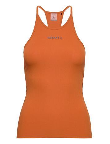 Craft Core Sence Rib Singlet W T-shirts & Tops Sleeveless Oranssi Craft BUFF