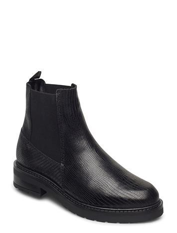 Pavement Jemma Lizard Wool Chelsea-saappaat Bootsit Musta Pavement BLACK LIZARD
