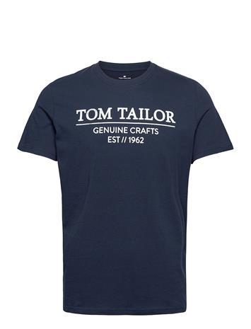Tom Tailor T-Shirt With T-shirts Short-sleeved Sininen Tom Tailor SKY CAPTAIN BLUE