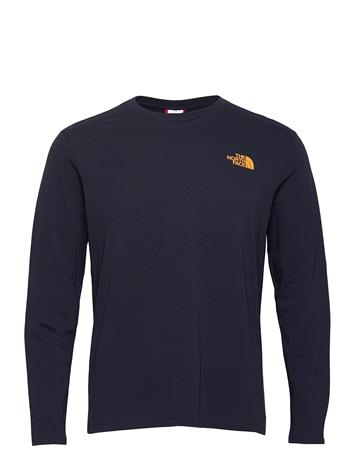 The North Face M L/S Graphic Tee T-shirts Long-sleeved Sininen The North Face AVIATOR NAVY