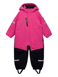 Polarn O. Pyret Overall Padded Solid Preschool Outerwear Snow/ski Clothing Snow/ski Suits & Sets Vaaleanpunainen Polarn O. Pyret FANDANGO PINK