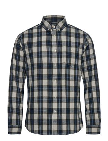 Knowledge Cotton Apparel Larch Casual Fit Small Checked Flan Paita Rento Casual Sininen Knowledge Cotton Apparel FORREST NIGHT
