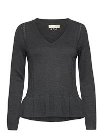 ODD MOLLY Aurora Sweater T-shirts & Tops Knitted T-shirts/tops Harmaa ODD MOLLY WARM ASPHALT