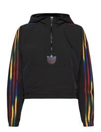 adidas Originals Cropped Halfzip Huppari Musta Adidas Originals BLACK, Naisten paidat, puserot, topit, neuleet ja jakut