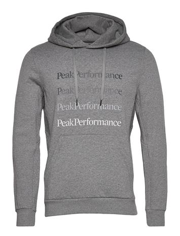Peak Performance M Ground Hood Black Huppari Harmaa Peak Performance GREY MELANGE, Miesten paidat, puserot ja neuleet