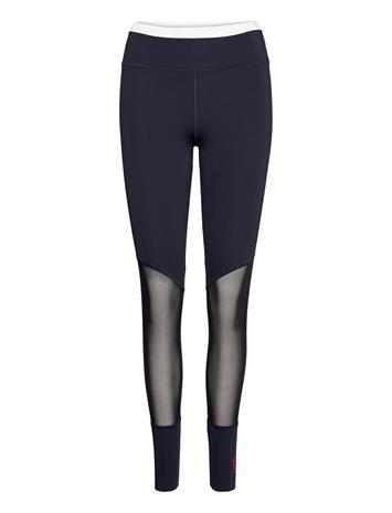Tommy Sport Full Length Mesh Insert Legging Running/training Tights Sininen Tommy Sport DESERT SKY