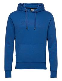 Superdry Core Logo Tonal Hood Huppari Sininen Superdry TRUE BLUE