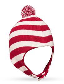 CeLaVi Helmet - Knit, Yd Stripe Accessories Headwear Balaclava Punainen CeLaVi RIO RED, Lastenvaatteet