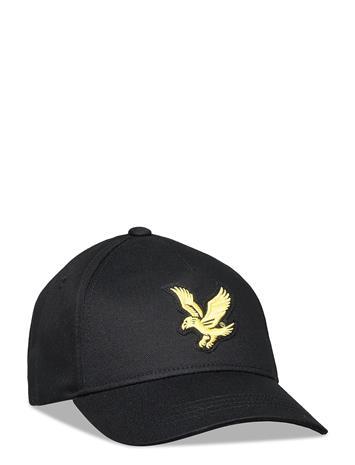 Lyle & Scott Junior Eagle Cap Black Accessories Headwear Caps Musta Lyle & Scott Junior BLACK, Lastenvaatteet