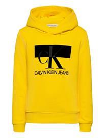Calvin Klein Monogram Block Hoodie Huppari Keltainen Calvin Klein BOLD YELLOW, Lastenvaatteet
